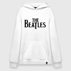 Толстовка-худи оверсайз The Beatles цвета белый — фото 1