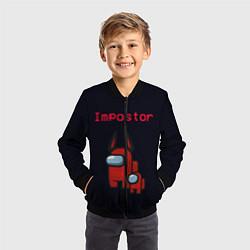 Бомбер детский Among us Impostor цвета 3D-черный — фото 2