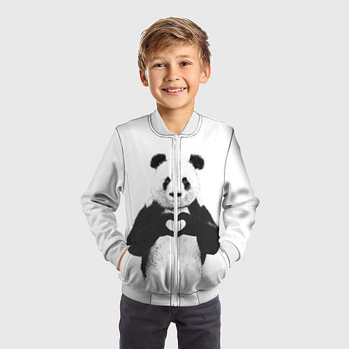 Детский бомбер Panda Love / 3D-Белый – фото 3