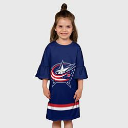 Платье клеш для девочки Columbus Blue Jackets цвета 3D — фото 2