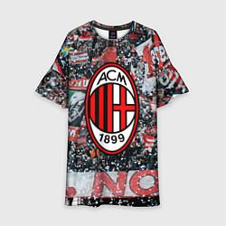 Платье клеш для девочки Milan FC цвета 3D-принт — фото 1