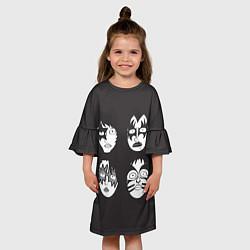 Платье клеш для девочки KISS Mask цвета 3D — фото 2