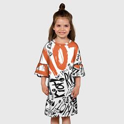 Платье клеш для девочки Paramore: Riot цвета 3D-принт — фото 2