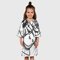 Платье клеш для девочки Предательство цвета 3D — фото 2