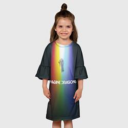 Платье клеш для девочки Imagine Dragons цвета 3D-принт — фото 2