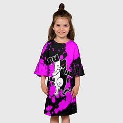 Платье клеш для девочки MONOKUMA Puhuhuhu цвета 3D — фото 2