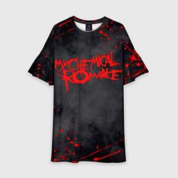 Платье клеш для девочки My Chemical Romance цвета 3D-принт — фото 1