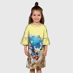 Платье клеш для девочки SONIC цвета 3D — фото 2