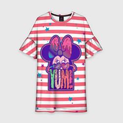 Платье клеш для девочки Minnie Mouse YUM! цвета 3D-принт — фото 1