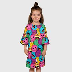 Платье клеш для девочки Pattern цвета 3D — фото 2