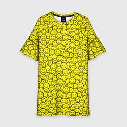 Платье клеш для девочки Смайлики цвета 3D — фото 1