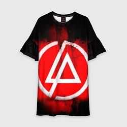Платье клеш для девочки Linkin Park: Red style цвета 3D-принт — фото 1