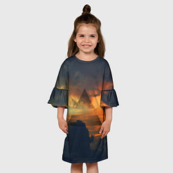 Платье клеш для девочки 30 seconds to mars цвета 3D-принт — фото 2