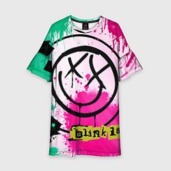 Платье клеш для девочки Blink-182: Purple Smile цвета 3D-принт — фото 1