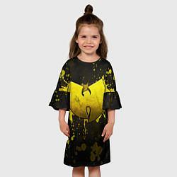 Платье клеш для девочки Wu-Tang Clan: Yellow цвета 3D — фото 2