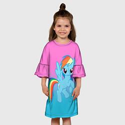 Платье клеш для девочки My Little Pony цвета 3D — фото 2