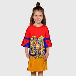 Платье клеш для девочки Герб и флаг Армении цвета 3D-принт — фото 2