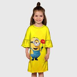 Платье клеш для девочки Цветочек цвета 3D — фото 2