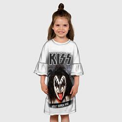 Платье клеш для девочки KISS: Adult demon wig цвета 3D — фото 2