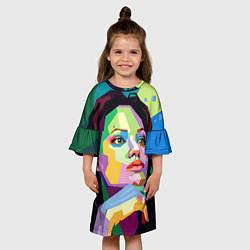 Платье клеш для девочки Angelina Jolie: Art цвета 3D — фото 2
