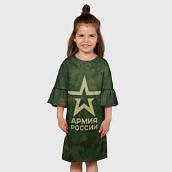 Платье клеш для девочки Армия России цвета 3D — фото 2