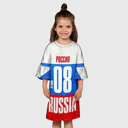 Платье клеш для девочки Russia: from 08 цвета 3D-принт — фото 2