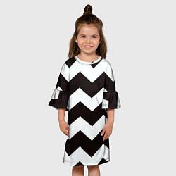 Платье клеш для девочки Полосы цвета 3D — фото 2