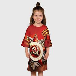 Платье клеш для девочки 9 мая цвета 3D — фото 2