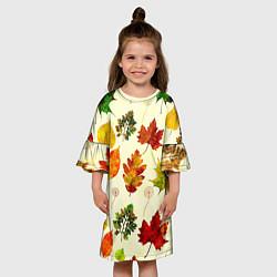 Платье клеш для девочки Осень цвета 3D — фото 2