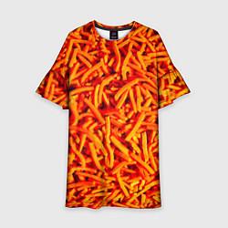 Платье клеш для девочки Морковь цвета 3D — фото 1