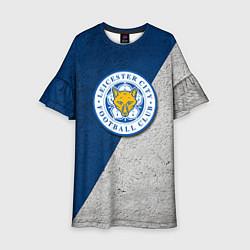 Платье клеш для девочки Leicester City FC цвета 3D — фото 1