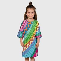 Платье клеш для девочки Рамадан цвета 3D — фото 2