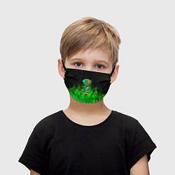 Маска для лица детская Леон из Бравл Старс цвета 3D — фото 1