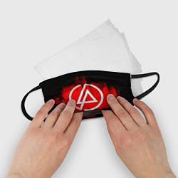 Маска для лица детская Linkin Park: Red style цвета 3D-принт — фото 2