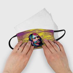 Маска для лица детская Kurt Cobain: Abstraction цвета 3D-принт — фото 2