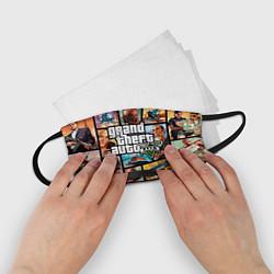 Маска для лица детская GTA 5: City Stories цвета 3D-принт — фото 2