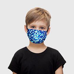 Детская маска для лица Синяя геометрия