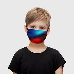 Детская маска для лица Синий и красный
