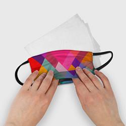 Маска для лица детская Разноцветные полигоны цвета 3D — фото 2