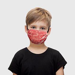 Маска для лица детская Кусок мяса цвета 3D — фото 1