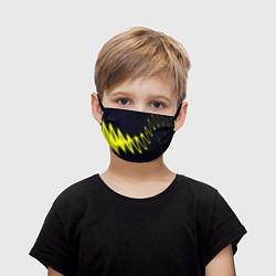 Маска для лица детская Молния цвета 3D — фото 1