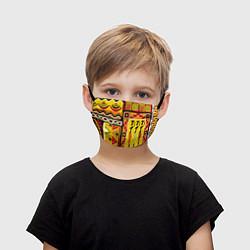 Маска для лица детская Африка цвета 3D — фото 1