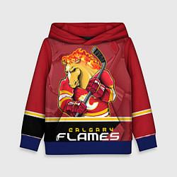Толстовка-худи детская Calgary Flames цвета 3D-синий — фото 1