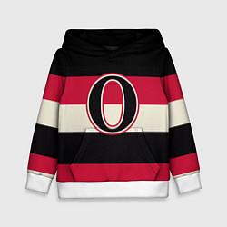 Толстовка-худи детская Ottawa Senators O цвета 3D-белый — фото 1