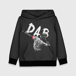 Толстовка-худи детская Paul Pogba: Dab цвета 3D-черный — фото 1