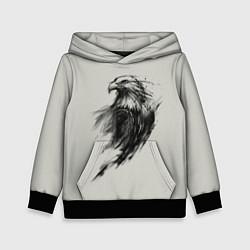 Толстовка-худи детская Дикий орел цвета 3D-черный — фото 1