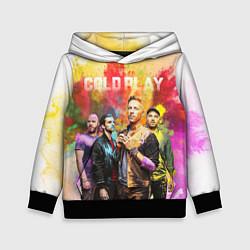 Толстовка-худи детская Coldplay цвета 3D-черный — фото 1