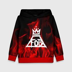 Толстовка-худи детская Fall Out Boy: Red Flame цвета 3D-красный — фото 1