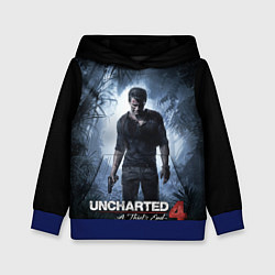 Толстовка-худи детская Uncharted 4: A Thief's End цвета 3D-синий — фото 1