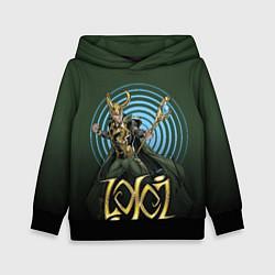 Толстовка-худи детская Loki цвета 3D-черный — фото 1